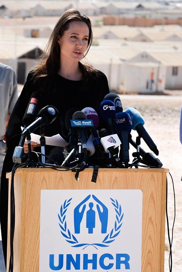 国連の難民問題に注力するアンジェリーナ