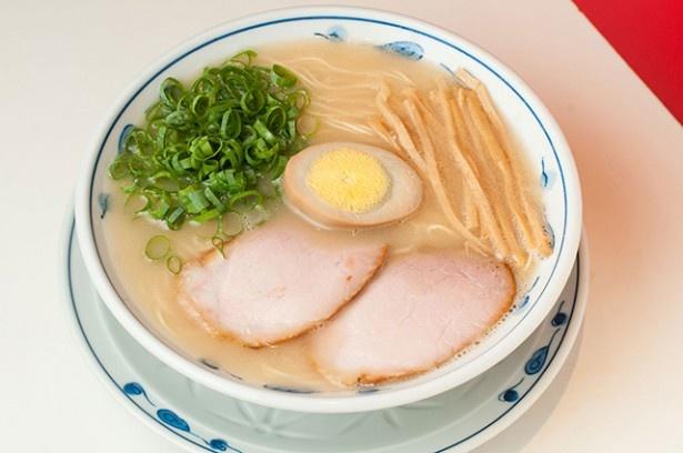 【丼全体の写真を見る】長時間炊いた白濁色の乳化スープに、思わず生唾を飲んでしまう