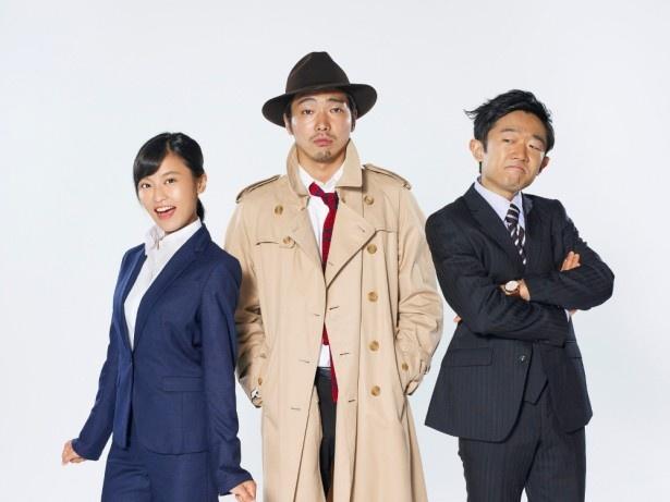 【写真を見る】古久を演じる柄本佑(中央)、共演の小島瑠璃子(左)、えなりかずき(右)