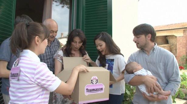 保田が届ける品物に日本人妻もイタリア人家族も大感動!
