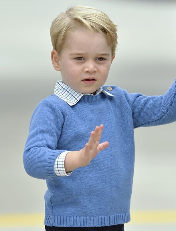 2度目のツアーで慣れたのか、ジョージ王子が手を振る場面も