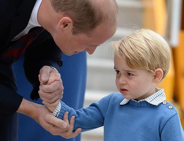 最初は緊張してしまっていたジョージ王子