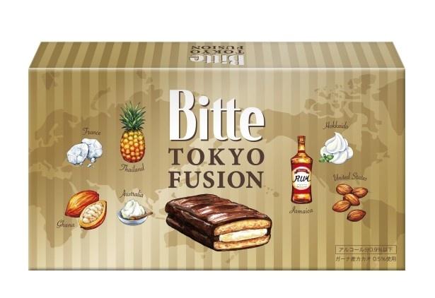 JR東日本リテールネットと江崎グリコが共同開発した「Bitte<TOKYO FUSION>」(税抜1000円)は10月1日(土)から東京駅で限定発売