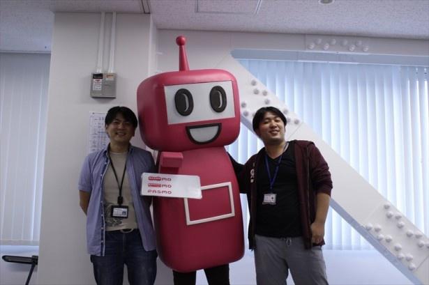 トレードマークのピンク色とシュッとした佇まいが愛らしいPASMOのロボット