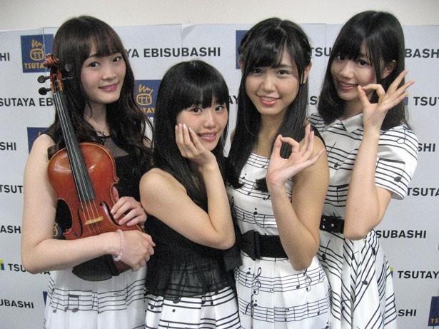 「アイドルオーケストラRY's」の写真左からRIO・RUKA・YUU・YUKI