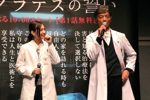 柴田は、北川が差し入れた焼き肉弁当やすき焼き弁当に衝撃を受けたと話す