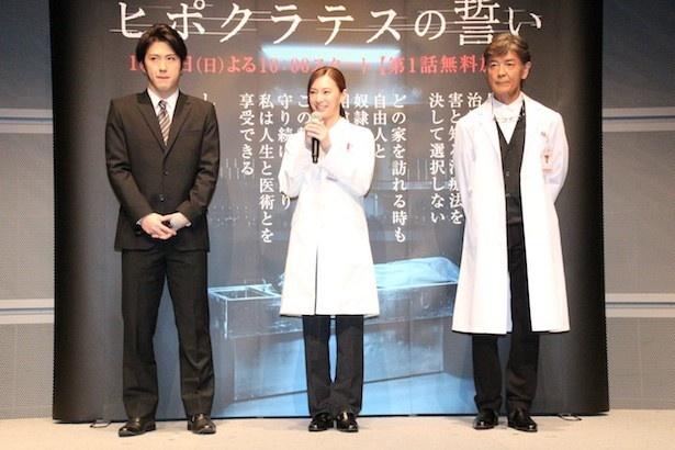 シリアスな作品でも、柴田のアドリブが頻発していたことを明かす北川と松也
