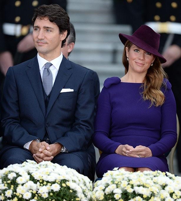 イケメンで知られるトルドー首相と元モデルのソフィー首相夫人