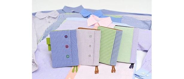 男女問わず持てる!ストライプやパッチワークのシャツ地手帳は、森蔭大介さんデザイン