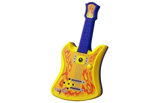 8/21からもらえるベースギター。センサーに手をかざすと音が出て、連続して手をかざして動かすと音楽を演奏できる