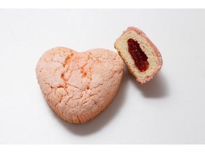 吉祥寺への愛情を表現した「ハートメロンパン」(248円)