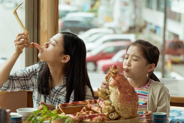 双葉の娘・安澄は、高足ガニが大好き!
