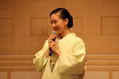 「日本橋は大好き」という蒼井優さん