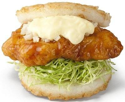 「宮崎県産鶏使用 モスライスバーガー チキン南蛮」。チキン南蛮とライスが合わないワケない!