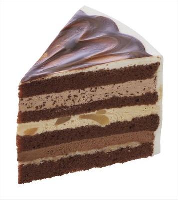 3種類のチョコのおいしさを層で楽しむ「ミルショート(チョコレート)」(486円)