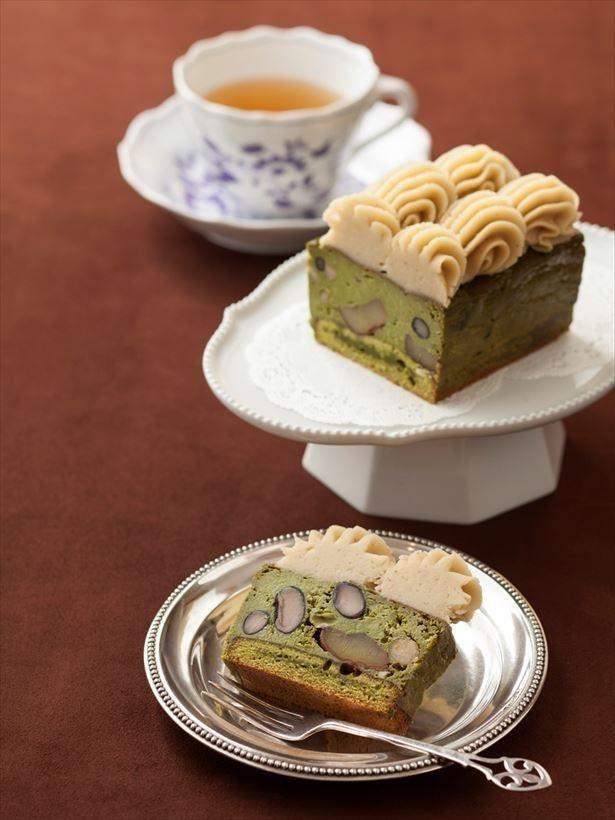 「丹波栗と宇治抹茶の極濃プレミアムチーズケーキ」(税別・送料別 5000円)