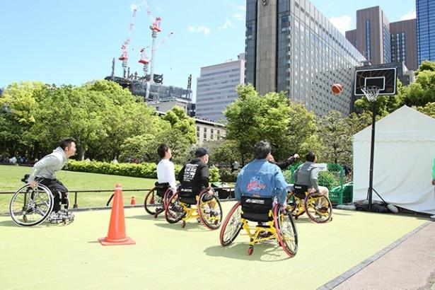 「三菱電機Going Upキャンペーン全国キャラバン」では、車椅子バスケットボールの体験会やデモンストレーションなどが行われる