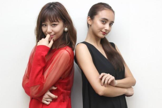 『CUTIE HONEY -TEARS-』で共演した西内まりやと石田ニコル