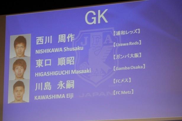 GKでは川島永嗣選手が復帰した