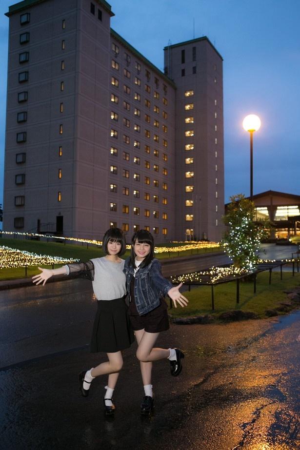イルミネーション会場はアパホテル&リゾート上越妙高本館のすぐ目の前なので泊りで訪れるにもぴったりのロケーションだ