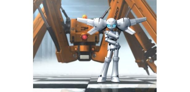 手前がお嬢様ロボットのドロッセル。奥の巨大なロボットが執事のゲデヒトニス