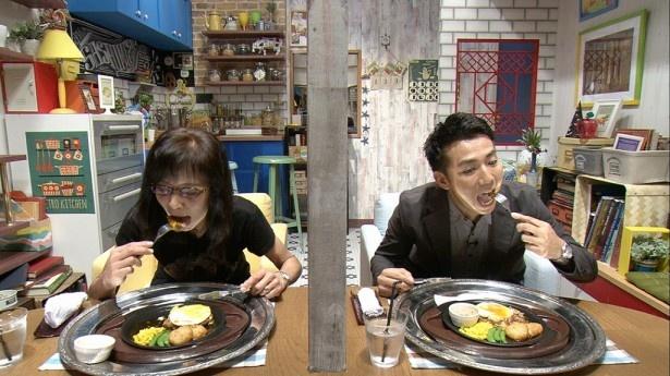 新番組「テレ東のさしめし―」で、独特な空気の中、会食に臨むピースの綾部祐二