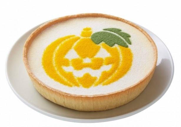 【写真を見る】「ハロウィーンレアチーズケーキ(ジャックオランターン)」直径約15cm:1296円(税込)