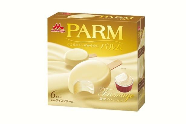 クリームチーズとマスカルポーネチーズを使用したチーズアイスを口どけのいいチーズチョコで包み込んだ/森永乳業「パルム 濃厚フロマージュ」(453円、6本入り)