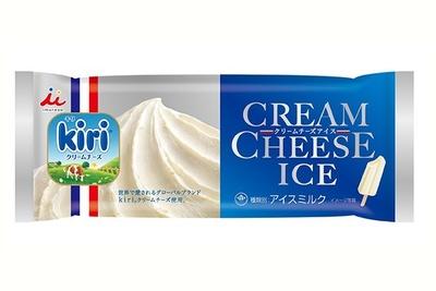 世界的なチーズメーカーとのコラボアイスは、kiriのクリームチーズならではのなめらかさとクリーミーな味わいをリアルに再現/井村屋「クリームチーズアイス」(140円)
