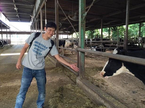 川岡は「野菜も豊富で大きくて安いし、乳製品も大好きなので食事が楽しみ!」