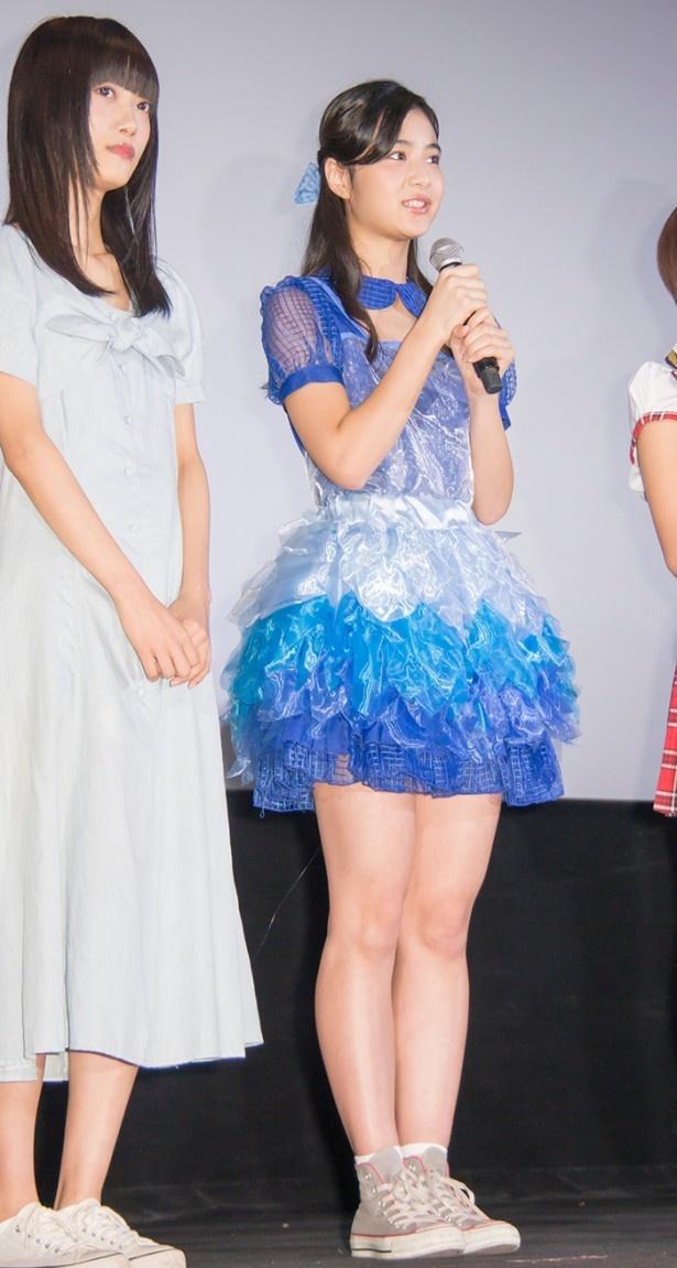 髪のアクセサリーが素敵な山谷花純さん
