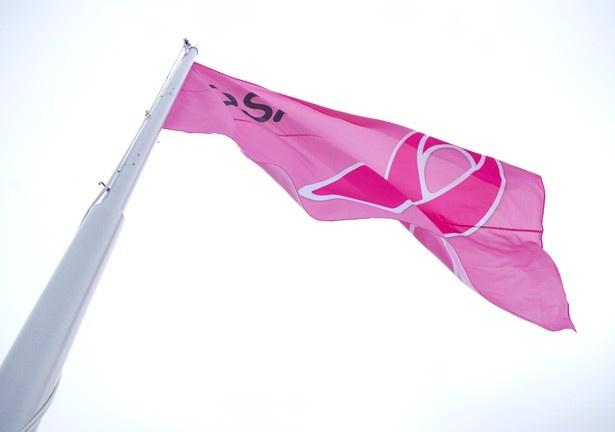 2代目通天閣では初めて頂上部に旗が掲揚できるようになり、10月1日には乳がん検診を啓発するピンクリボン月間の開始に合わせて大阪ピンクリボンキャンペーンの旗が掲げられた