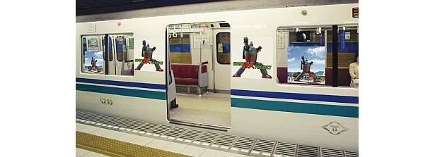 祭りを記念して「鉄人28号」電車も走る!