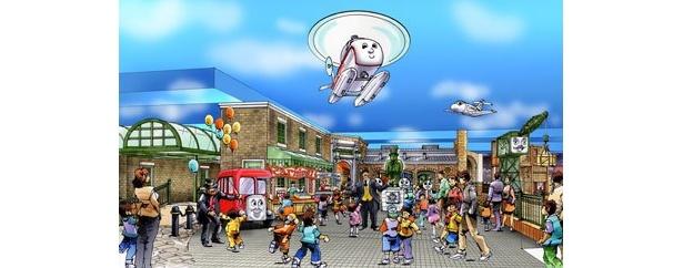 中央広場にはお店も並び、毎日がお祭りのよう