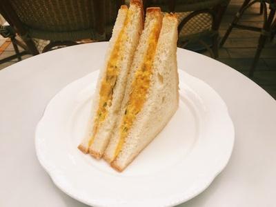 サクサクふわふわな食パンとかぼちゃが絶妙にマッチ「かぼちゃのサンドイッチ」