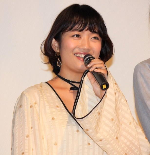 『過激派オペラ』初日舞台挨拶に登壇した森田涼花