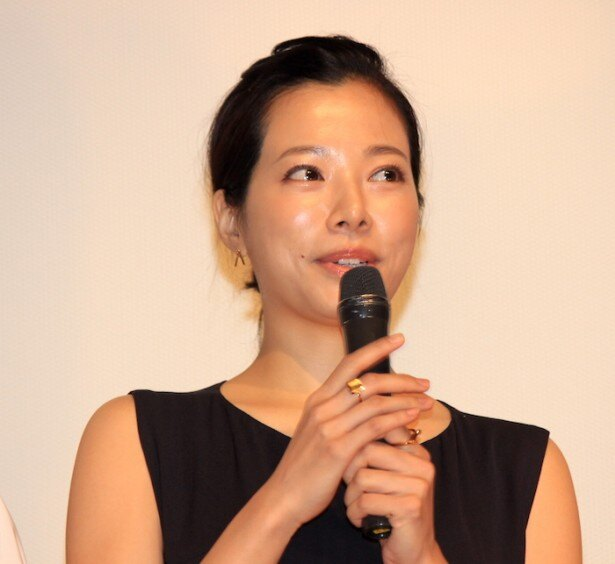 『過激派オペラ』初日舞台挨拶に登壇した桜井ユキ