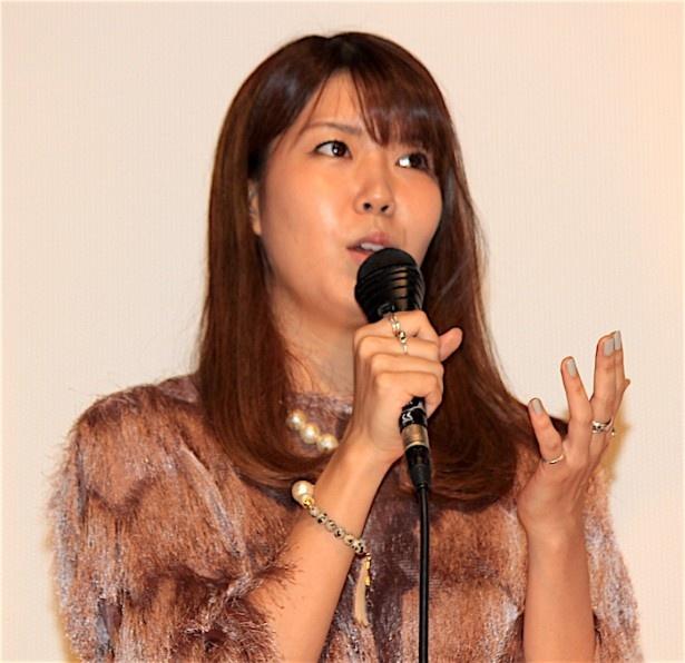 『過激派オペラ』初日舞台挨拶に登壇した石橋穂乃香
