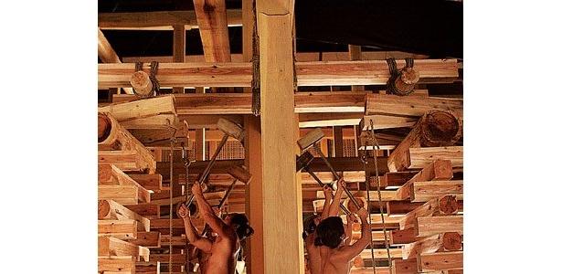 劇中では、築城の過程もしっかり描かれている