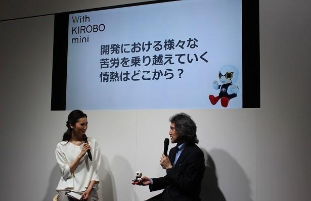 開発責任者であるトヨタの片岡史憲氏によるトークショーでは開発秘話も披露