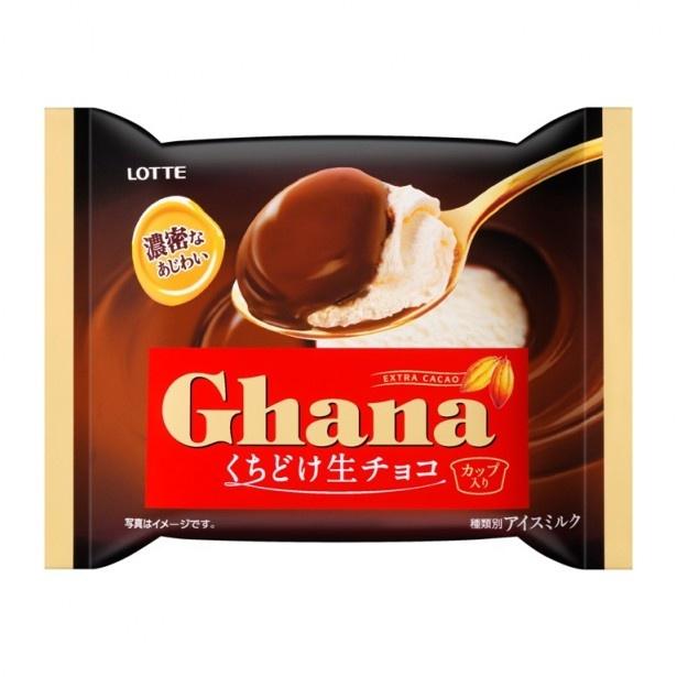とろける生チョコの味わいをバニラアイスと一緒に味わえる