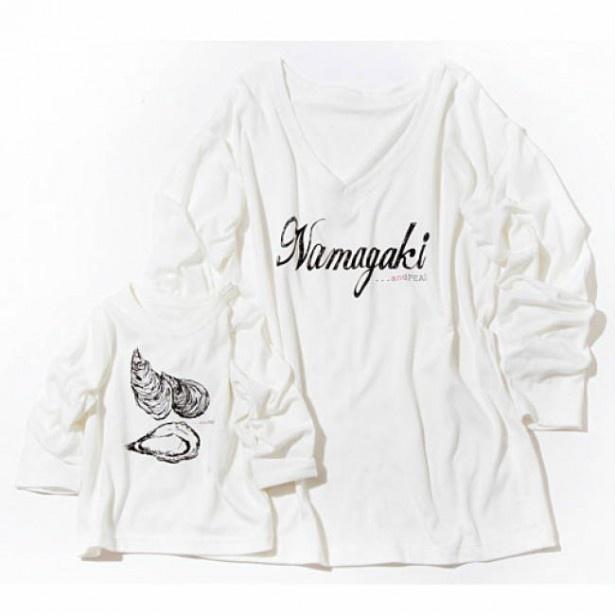 ママ得Tシャツ(Namagaki)ママM ~LL 2500円(税込)、ベビー80~100 1500円(税込)