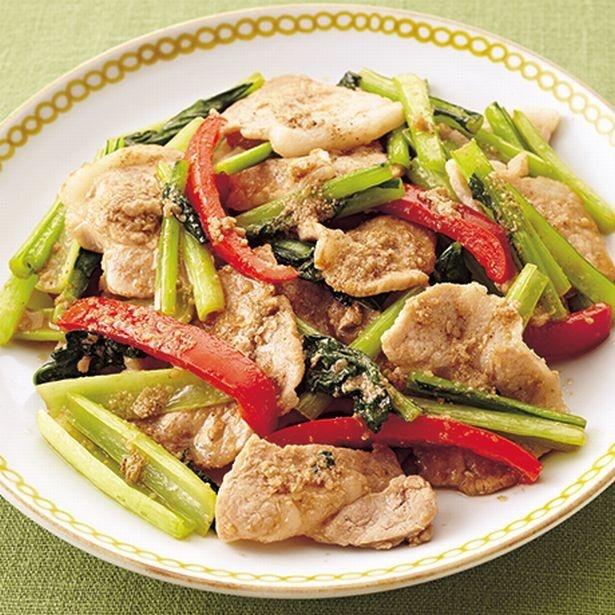 美容と健康にうれしい、豚肉&小松菜でチャチャッと