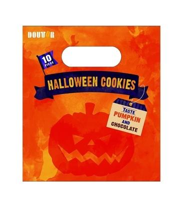 子供も安心して食べられるパンプキンとショコラの2種類のクッキーが入った数量限定の「ハロウィンクッキー」(500円)