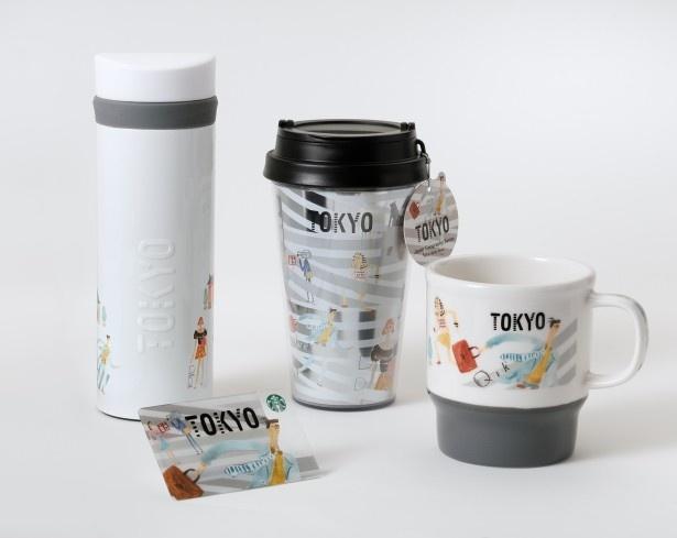 スクランブル交差点をバックに、番組ロケや急ぐサラリーマン、東京マラソンを走るランナー、赤門などのモチーフが描かれた「TOKYO」シリーズ