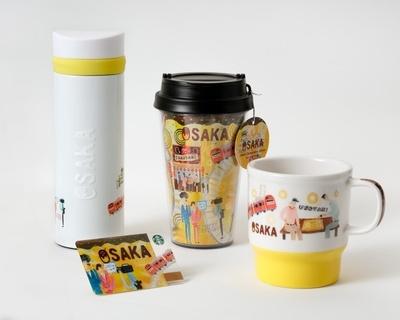 """元気な黄色の色使いに、たこ焼きや芸人、将棋を指す""""オッサン""""たちが描かれた「OSAKA」シリーズ"""