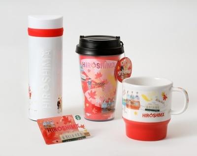 シカ、紅葉、路面電車、広島風お好み焼きなどが描かれた「HIROSHIMA」シリーズ