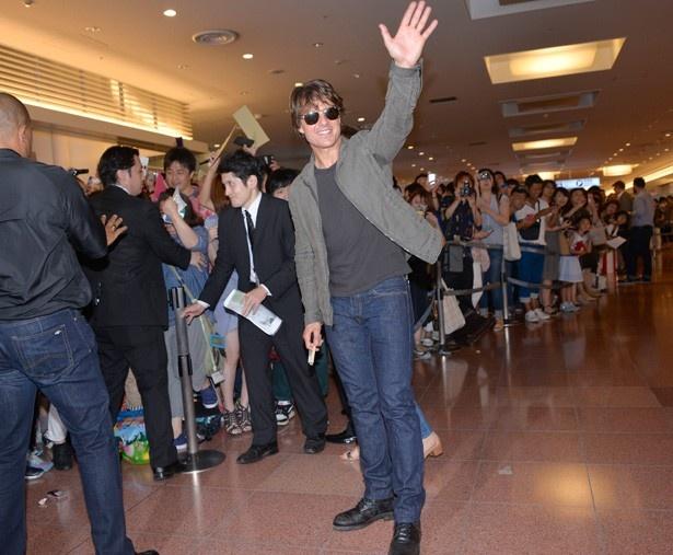 『ミッション:インポッシブル/ローグ・ネイション』(15)で来日し、羽田空港に姿を現したトム