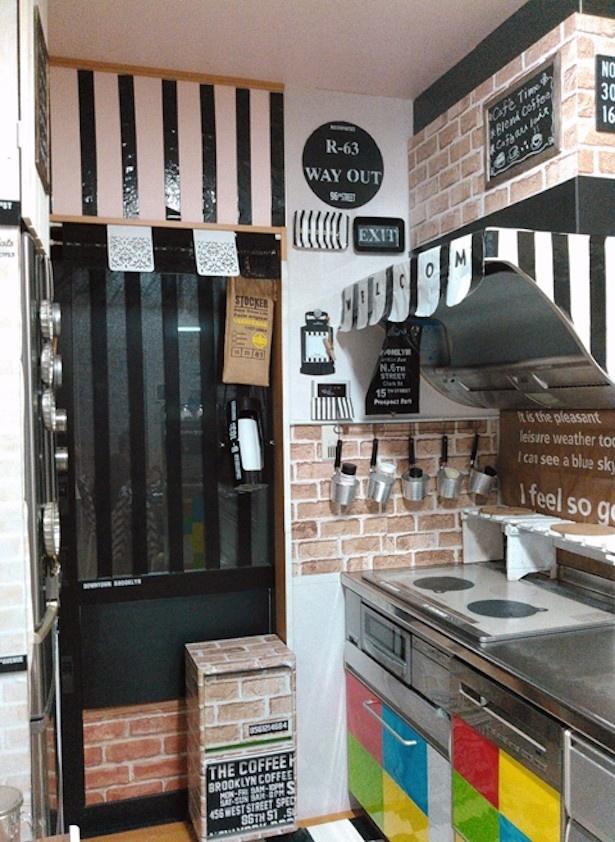 DIYでカフェ風キッチンにリメイク