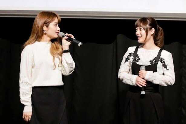 乃木坂46の元メンバー・畠中清羅(左)は「1人になると緊張する」と告白